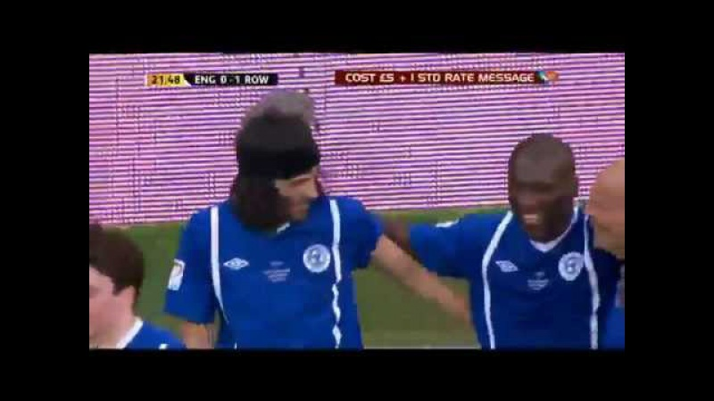 Kasabian's Sergio Pizzorno scores for Soccer Aid 2012