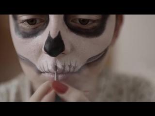 Halloween makeup tutorial _ masquerade mask _ makeupkaty