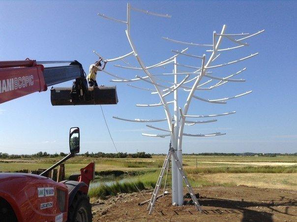 Искусственное дерево вырабатывающее энергию