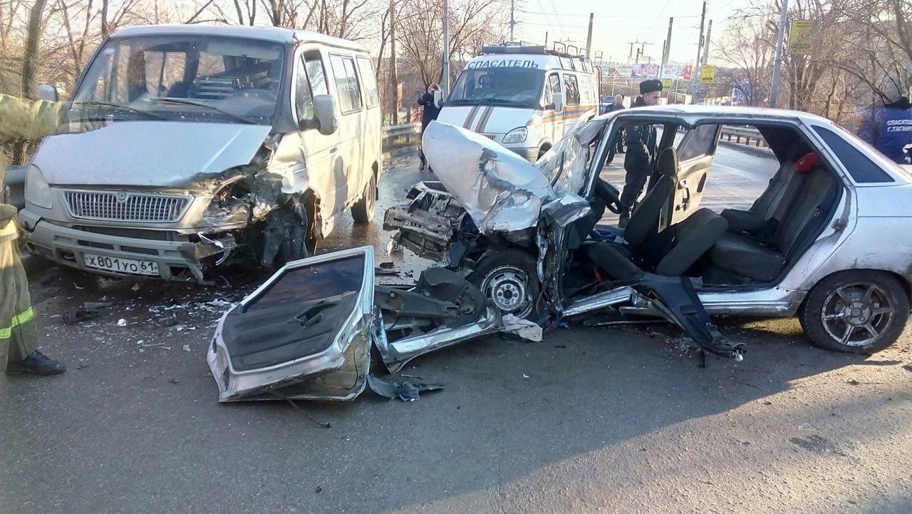В Таганроге на Бакинском мосту в ДТП с «десяткой» и «Баргузином» пострадали два человека