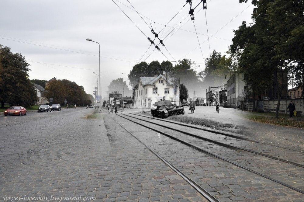 Дорогами войны от Бреста до Берлина в фотореконструкциях