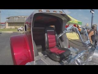 Дальнобой по США Америка. Трех колесный мотоцикл с двигателем CAT. ЭТО ПРОСТО БОМ