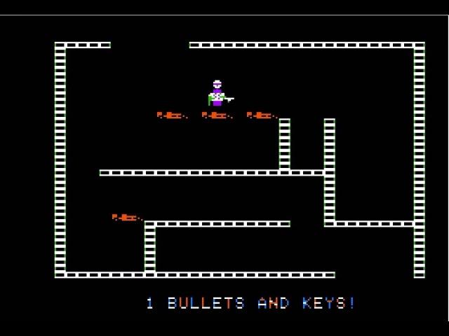 Apple II Game: Castle Wolfenstein (1981 Muse Software) [Longplay]