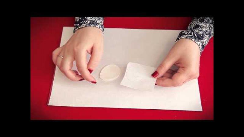 Как перенести изображение на полимерную глину. Мастер-класс. Пасхальный магнит ...