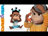 Five Little Monkeys Jumping on the Bed Nursery Rhymes and Baby Songs  Dave and Ava
