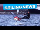 America's Cup Nathan Outteridge foiling on his Moth