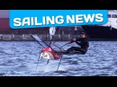 America's Cup: Nathan Outteridge foiling on his Moth