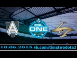 The Alliance vs Team Secret (bo1) (Ru) | ESL One 2015 Lan Finals (18.06.2015)