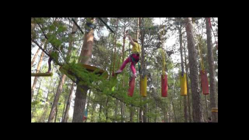 Vlog Поездка в Челябинск Парк Гагарина Лесной экстрим Прохождение трассы Белка