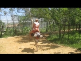 Как я прокатилась на страусе)