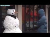 Прикольный розыгрыш со снеговиком