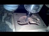 обработка бука на 3-х осевом ЧПУ, изготовление рукояти