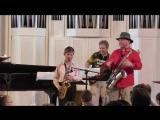 Халилов  Евгений и джазовый  саксофонист Олег Киреев