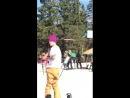 February 29: Fan taken video of Justin at Big Bear Mountain in California.