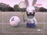 Смешной мультик .Бешеные кролики .Кролики не умеют играть в футбол