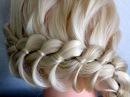 Косичка из 4 прядей.Причёски для средних, длинных волос.Плетение волос/косичек в ...