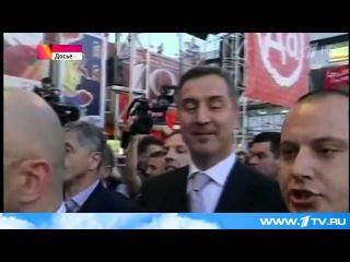 В Черногории прошел многотысячный митинг против вступления страны в НАТО