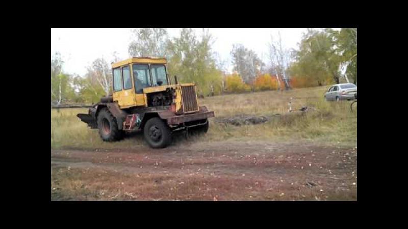 ДТ-75 на колёсах пробная вспашка