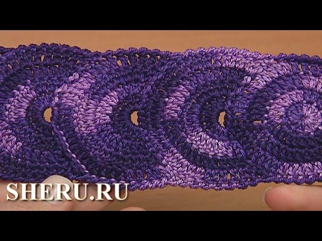 Простое ленточное кружево Урок 31 Crochet Circle Lace