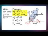 Решение задач на движение по окружности (в том числе и на поворотах) | урок 79, физика 11 класс