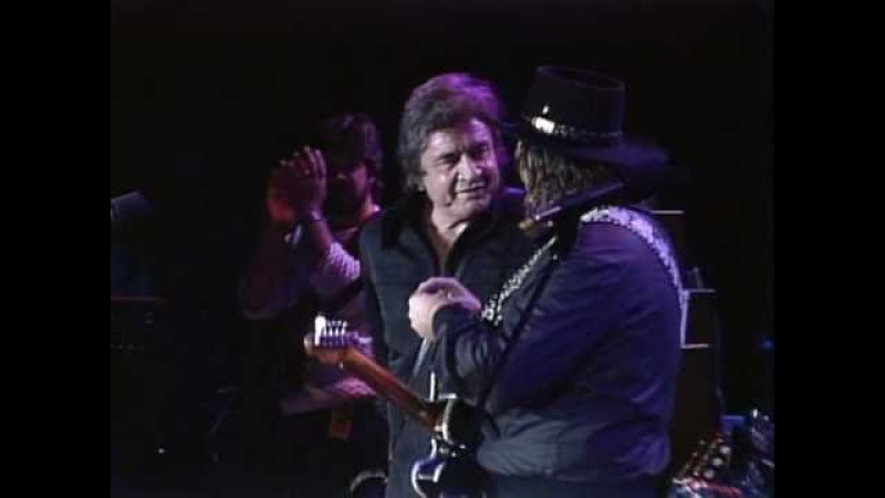 Johnny Cash Waylon Jennings - Folsom Prison Blues (Live at Farm Aid 1985)