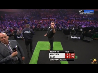 Gary Anderson vs James Wade (2016 Premier League Darts / Week 12)