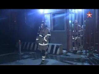 Первые кадры с места пожара в отделении полиции в центре Москвы