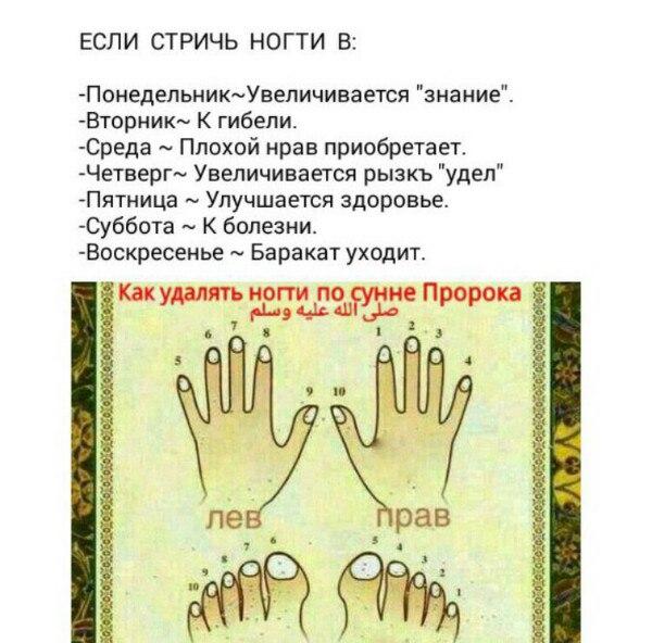 Стричь ногти по сунне пророка