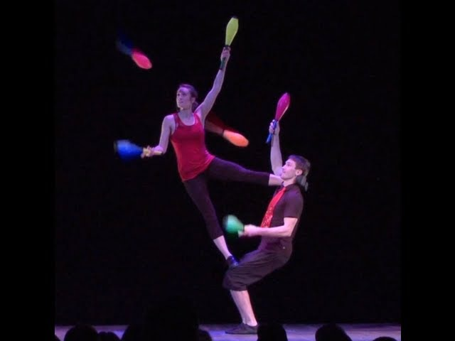 Acrobatic Juggling Performance (Bob and Trish)