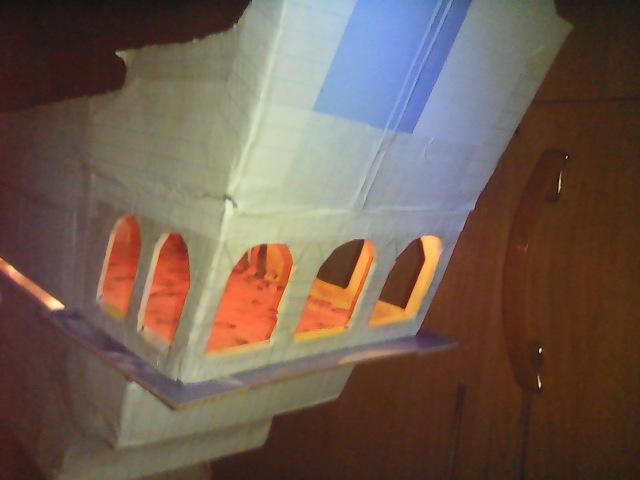 Из картона и бумаги корабльЧерная жемчужина лестница 2