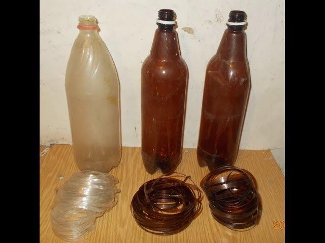 Как сделать веревку из пластиковых бутылок Twine from plastic bottle