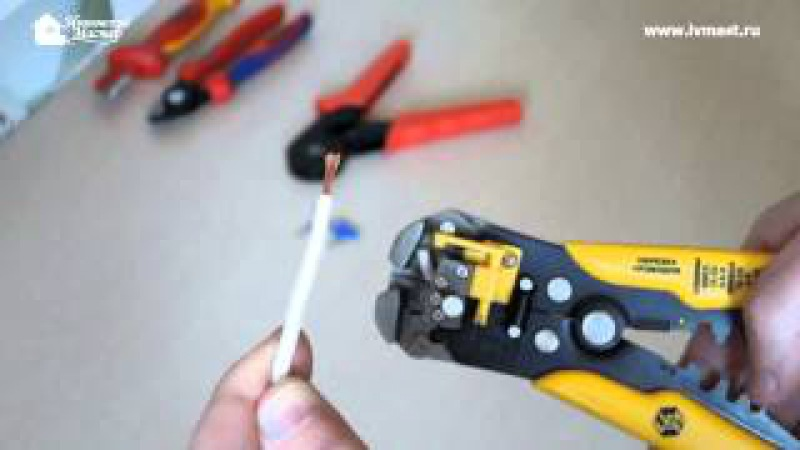 Опрессовка многожильного провода наконечником