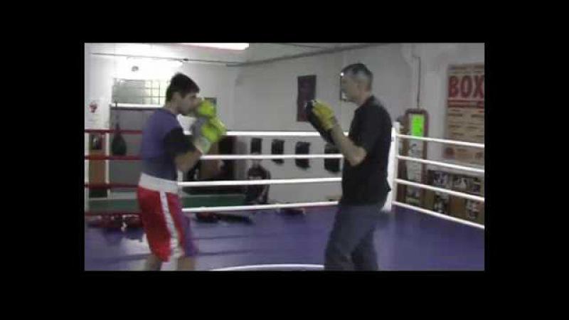 Бокс тренировка(boxing training) Т.Ахундов (tr.Alex Likhter)