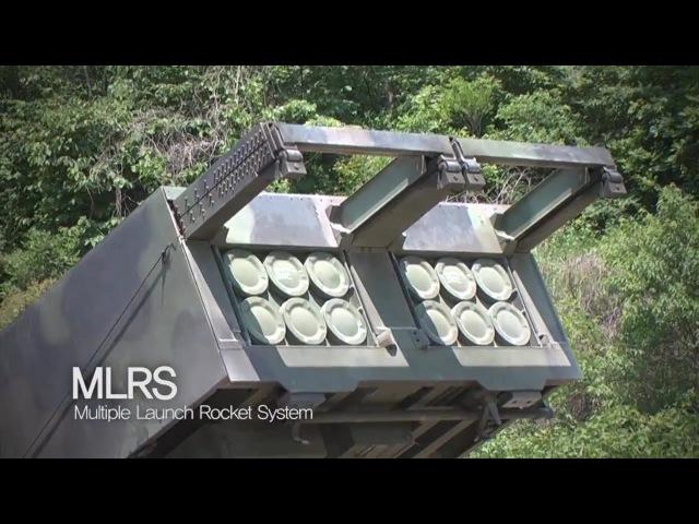 ROK Ministry Of National Defense - M270 Multiple Launch Rocket System (MLRS) Live Firing [720p]