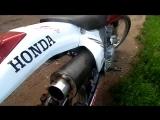 Прямоток из стокового глушителя.Honda xr 250