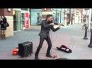 Уличный скрипач Очень круто играет
