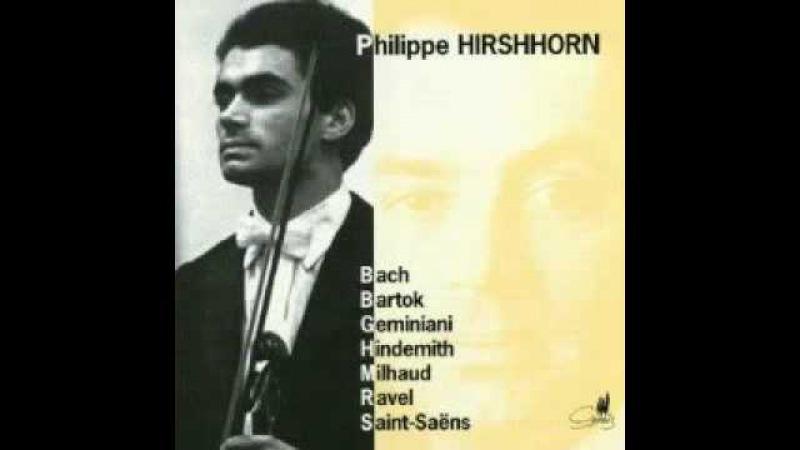 Philippe Hirshhorn playing Geminiani sonata c minor Largo