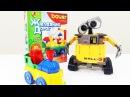 Видео для детей: робот ВАЛЛИ и паровозик. Игрушки для детей. Мультфильм Валли.