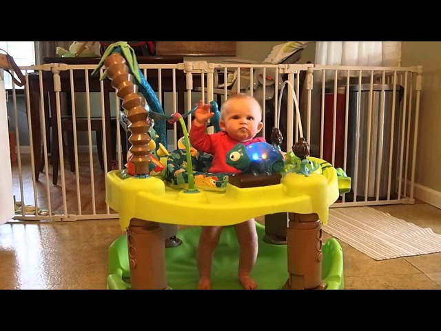 Abigail having fun in here Evenflo Exersaucer Triple Fun - Life in the Amazon