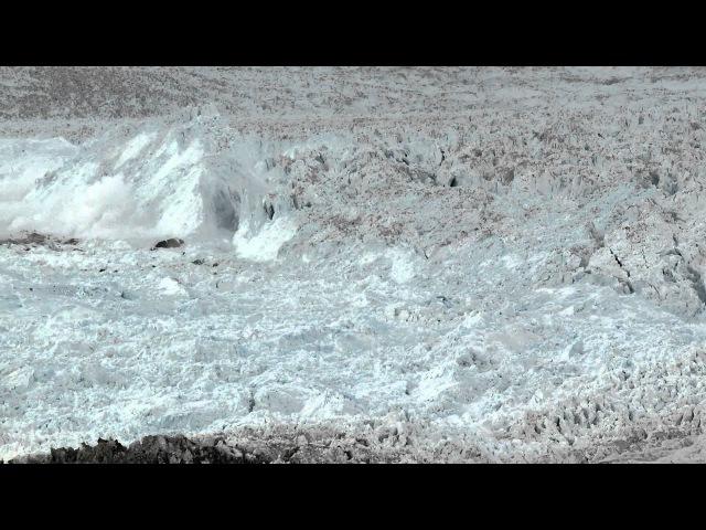 разрушение ледника.колоссальное видео. поражает