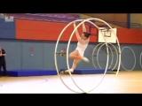 Гимнастика с колесом - Очень красиво!!!