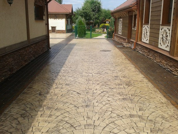 Печатный бетон Домаск компания Стройдом Ижевск