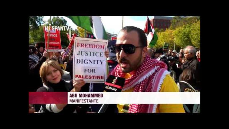 En EEUU protestan contra violencia y ocupación israelí