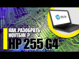 Разборка ноутбука HP 255 G4 / Как разобрать ноутбук HP 250 / Замена оперативки HP 255 G4