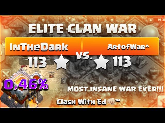 Clash Of Clans ELITE WAR InTheDark vs ArtOfWar^ 68x 3 Stars Attacks 0 46% to WIN