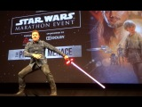 Ray Park (Darth Maul) introduces Star Wars marathon at El Capitan Theatre in Hollywood