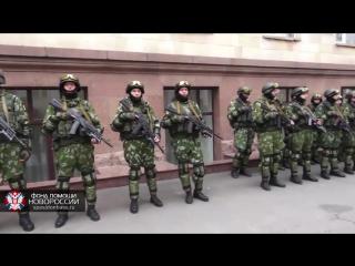 Моторола и Гиви с батальоном Спарта и Сомали. Парад Победы в Донецке 9 Мая 2015г.