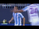 Малага 1:0 Атлетико. Шарлес. 86 минута