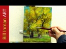 Learn to Paint Cottonwood Trees - Oil Painting 'Hammock Stand' Fast Motion by Bill Inman