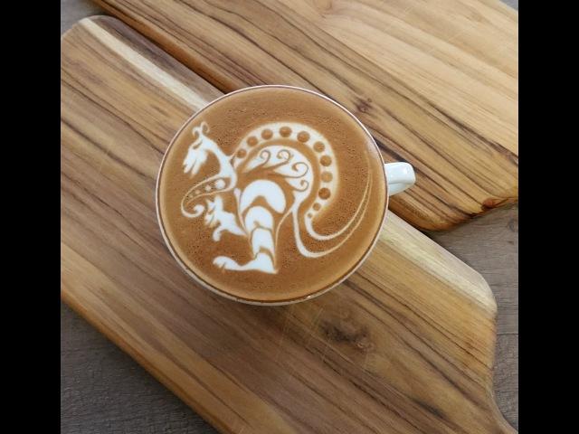 Latte Art 'Kangaroo' by Elvis - Seivijus Matiejuna
